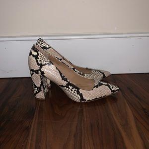 Snake Skin Block Heels